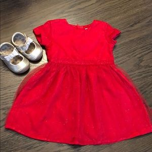 Red dress & gold shoes BUNDLE!